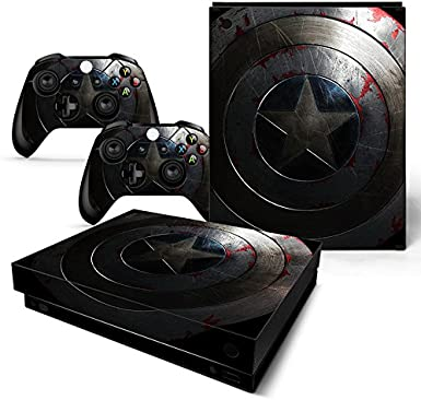 FriendlyTomato Sticker vinyle pour console Xbox One X et manette sans fil Super Hero