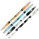 Dsstyle Office School High Grade LED Lighting Pen Students Neutral Ballpoint Pen as Perfect Gift (Random Crystal Rod) Blue