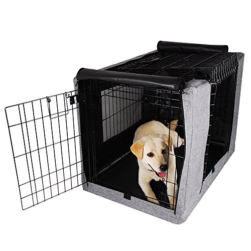 Petsfit 36' Lx23 Wx25 H Crate Cover, for 4000 Wire Crate,Two Doors (Grey)