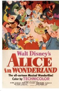 Amazon.com: Walt Disney's Alice in Wonderland MOVIE POSTER 1951 24X36 VINTAGE CARTOON (reproduction, not an original): Posters & Prints