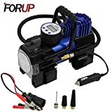 FORUP Heavy Duty Portable Air Compressor Pump, 12V DC Tire Car, SUV, Bicycle and Other Inflatables (Single Cylinder)