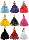FairyStar 6 PCS Fashion Handmade Clothes Dress For Barbie Doll Style Color Random