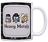 Funny Science Gifts Heavy Metals Periodic Table Gift Coffee Mug Tea Cup Black