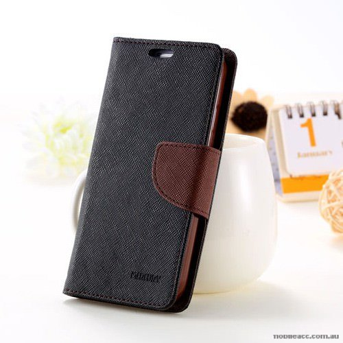 Lize Stylish Mercury Flip Cover for Samsung A8 2016_Brown 6