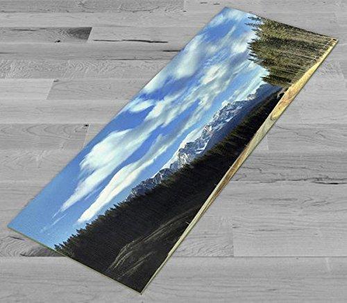 Pimp My Yoga Mat - Road to Banff - Original Artwork 72x24 in Yoga Mat / Pilates Mat, 1/8 in Thick
