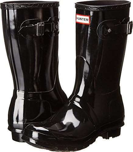 Hunter Women's Original Short Gloss Rain Boots Gull Grey 8 M US