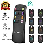 Key Finder Locator,Item Tracker Wireless RF Item Locator with Letters,Key Tracker with 85DB Loud Beeping Sound and 115 Feet Remote Control,8 Receivers,Anti-Lost Tags and Keychains