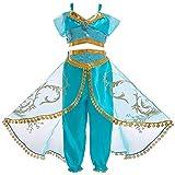 JiaDuo Girls Princess Jasmine Costume Halloween Party Dress Up 4-5 Years
