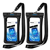 Mpow 084 Waterproof Phone Pouch Floating, IPX8 Universal Waterproof Case Underwater Dry Bag Compatible iPhone Xs Max/Xr/X/8/8plus/7/7plus Galaxy s9/s8 Note 9/8 Google Pixel up to 6.5' (Black)