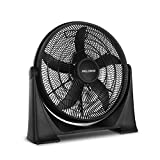 PELONIS 20-Inch 3-Speed Air Circulator with Adjustable Fan Head, Wall Mounted Optional, FB50-17H, Black
