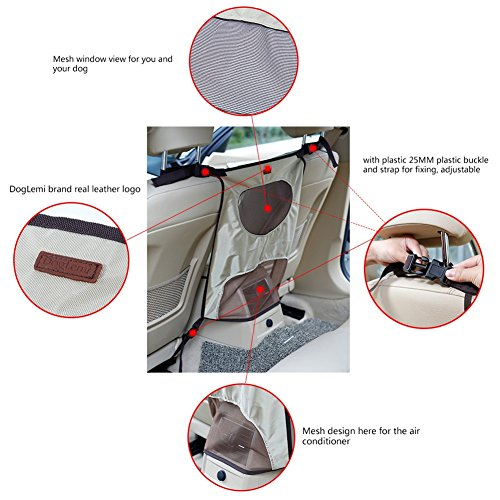 Kuoser Portable Dog Car Back Seat Barrier, Dog Travel Automobile Protectors  Car Block Adjustable Divider to Keep Driver Safety, Easy to Install for