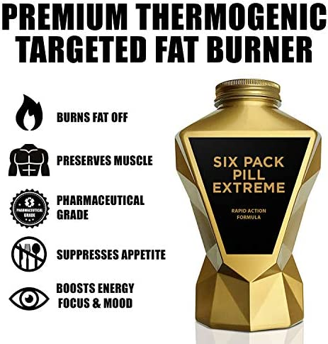 LA MUSCLE Six Pack Pill Extreme - Premium Thermogenic Rapid Weight Loss Fat Burner Supplement, Appetite Suppressant, Energy Booster, Keto Friendly, Fast Veggie & Vegan Diet Pills for Men & Women 3