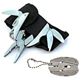 Star-Art Compact Multi-Tool, 6-in-1 Mini Multifunction Stainless Steel Hammer Wrench Pliers Saw Blade Knife Tools Set