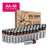 Energizer AA Batteries (48Count), Double A Max Alkaline Battery - Packaging May Vary