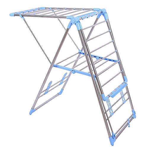 NEW Household Essentials Folding Stainless Steel Gullwing Clothes Drying Rack