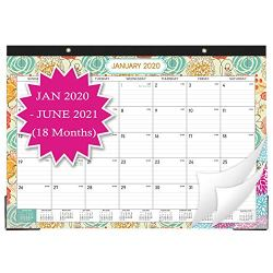 2020-2021 Desk Calendar – 18 Months Desk/Wall Calendar Pad, 17″ x 12″ Desk Pad Calendar, 18 Months Colorful Designs(1 Pcs)