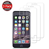 [3 Pack] iPhone8/7/6S and iPhone6 Glass Screen Protector Loopilops Tempered Glass Screen Protector [No Bubbles][9H Hardness] Compatible with iPhone 8/7/6S and 6[4.7 inch]