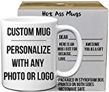 Custom Do It Yourself Mugs DIY Custom and Create any Personalized Photo Picture Coffee Mugs | Add Your Own Photo or Image | No Minimums - Double Sided | 11 Ounce White Custom Coffee Mug
