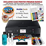 Mobile Deals Premium Birthday Cake Topper Image Printer Bundle - Includes Canon Wireless Printer, Cake Ink Cartridges, Cake Color Markers, Wafer & Sugar Paper Sheets with Print-Head Cleaning Kit