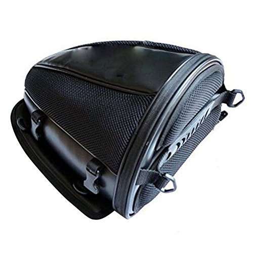 vinmax Motorcycle Backseat Saddle Bags Bicycle Cycling Basket Handle Bar Bag Waterproof for Travel Riding Tail Rack Bag,Black