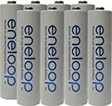 Eneloop 70-ZP2A-6D26 AAA 4th Generation NiMH Pre-Charged Rechargeable 2100 Cycles Battery with Holder Pack of 8