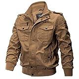 Black Friday Deals GOVOW Black Military Jacket Men Clothing Pocket Tactical Outwear Breathable Coat(US:4/CN:M,#Khaki)