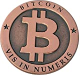 Bitcoin Miner Coin Antique Copper Commemorative Collectors Coin by CoinedBits | Limited Edition with Plastic Round Display Case