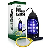 SBL Home Bug Zapper, Mosquito Zapper, Fly Zapper Indoor Lamp Bundled with Electric Fly Swatter