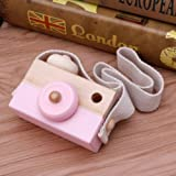 Product review for Pink Wooden Toy Camera Kids Creative Neck Hanging Rope Toy Photography Prop Gift