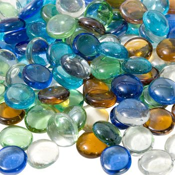 Glass Gems for Vase Accents and Crafting (2 Bags, Mixed Color Gems)