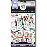 me & my BIG ideas The Happy Planner Planner Basics Sticker Value Pack - Multi-Color & Gold Foil - Great for Projects, Scrapbooks & Albums - 30 Sheets, 1829 Stickers Total