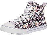 Skechers BOBS Women's Utopia-SMH High Top Sneakers, Lavender Multi 8 M US