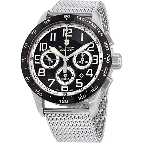 Victorinox Swiss Army Men's 241447.1 AirBoss Mach 6 Mechanical Black Chronograph Dial Watch