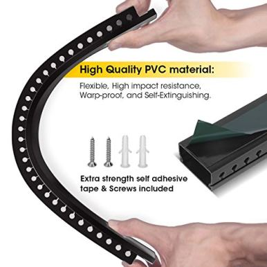 Cable-Raceway-Kit-Stageek-Cable-Management-System-Kit-Open-Slot-Wiring-Raceway-Duct-with-Cover-On-Wall-Cable-Concealer-Cord-Organizer-to-Hide-Wires-Cords-for-TVs-Computers-9x154inch-Black