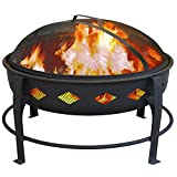 Landmann USA 21860 Bromley Fire Pit, Black