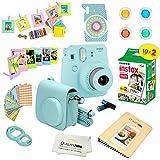 Fujifilm Instax Mini 9 Instant Camera ICE Blue w/Film and Accessories – Polaroid Camera Kit