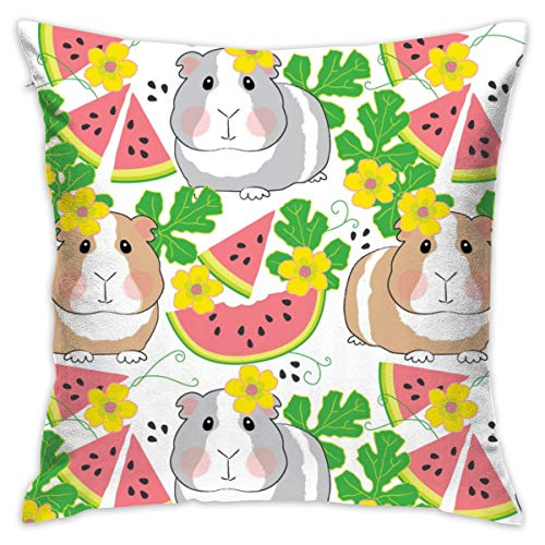 fastly Guinea-Pigs-in-a-Watermelon-Patch_735 Soft Microfiber Premium Quality Covers with Zipper,Pillowcase Covers 18x18,
