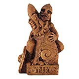 Dryad Design Seated Norse God Tyr Statue Wood Finish