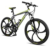 "Merax MS008700FAA Finiss 26"" Aluminum 21 Speed Mg Alloy Wheel Mountain Bike"