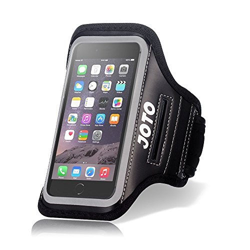 Apple iPhone SE Armband, JOTO Sport Exercise Armband Case for iPhone SE 5S 5C 5, with Key Holder, Credit Card/Money Holder, Sweat Proof, Best for Gym, Running, Fitness, Workout (Black)