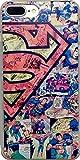 iPhone 7 Plus Superhero Hard Plastic Clip-On Case (Superman Comic)