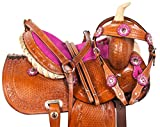 """Product review for NEW 10"""" 12"""" 13"""" WESTERN YOUTH PONY MINI SADDLE TACK HEADSTALL REINS BREAST COLLAR SET"""