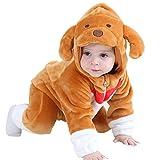 MerryJuly Toddler Unisex-Baby Halloween Costume Animal Onesie Outfit Puppy 80cm/6-12 Months