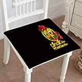 Mikihome Dining Chair Pad Cushion Zodiac Chicken Wallpaper Fashions Indoor/Outdoor Bistro Chair Cushion 16'x16'x2pcs