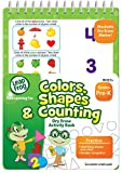 LeapFrog Colors, Shapes and Counting Dry Erase Activity Book for Pre-K with Washable Dry Erase Marker (19452)