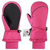 Fazitrip Kids Ski Mittens for Girls Boys, Children's 3M Thinsulate Warm Winter Gloves Waterproof Sonw Outdoor Gloves 4-6Y