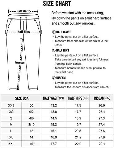 CRZ YOGA Women's Stretch Lounge Sweatpants Travel Ankle Drawstring 7/8 Athletic Track Yoga Dress Pants 7