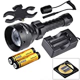 Evolva Future Technology Lens Infrared Flashlight IR T67 67mm Night Vision Torch Light - Infrared Light is Invisible to Human Eyes (Torch+Battery+Charger+Pressure Switch+Scope Mount)