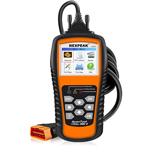 NEXPEAK OBD2 Scanner NX501 Enhanced OBD II Auto Code Reader Car Diagnostic Scan Tool Vehicle Check Engine Light Analyzer
