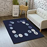 iBathRugs Door Mat Indoor Area Rugs Living Room Carpets Home Decor Rug Bedroom Floor Mats,Simple Outline Mandalas on Square